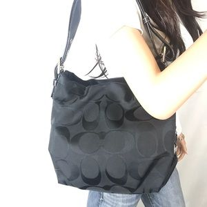 Coach Bags - COACH Black Signature Jacquard Duffle Bag #15067